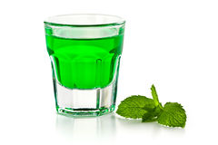 Green mint liquor Stock Image