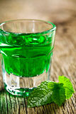 Green mint liquor Stock Images