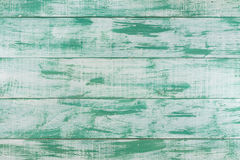 Green mint painted wood board background, top view Stock Photography