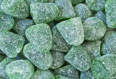 Green mint sweets Stock Images