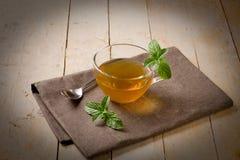 Green mint tea Stock Photos