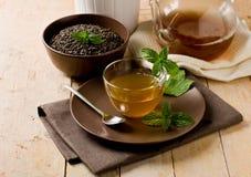 Green mint tea Royalty Free Stock Photo