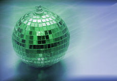 Green mirror ball Royalty Free Stock Photos