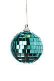 Green mirror Christmas ball Stock Images