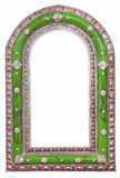 Green mirror frame Stock Image