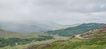 Green and misty mountains in Ireland Stock Images