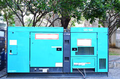 Mobile electric power generator for emergency situations. Green Mobile electric power generator for emergency situations Royalty Free Stock Photos