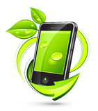 Green mobile phone Royalty Free Stock Images