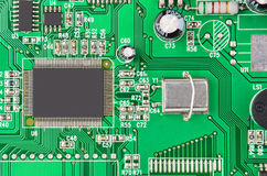 Green modem motherboard Royalty Free Stock Photography