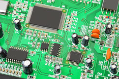 Green modem motherboard Stock Photography