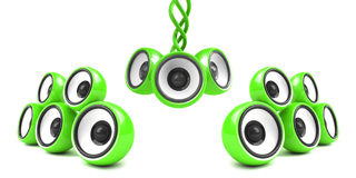 Green modern audio system Royalty Free Stock Images