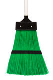 Green and modern broom Stock Photo