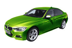 Green modern car, BMW 3 (F30) Royalty Free Stock Photography