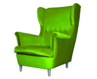 Green modern chair isolated Royalty Free Stock Image
