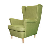 Green modern chair isolated Stock Image