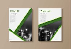 Green modern cover book   Brochure template, design, annual repo Royalty Free Stock Images