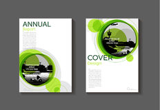 Green  modern  cover book Brochure template, design, annual repo Royalty Free Stock Image