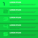 Green modern design business horizontal banners with numbers eps10 Stock Images