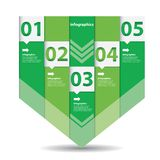 Green Modern flat design infographics Stock Image