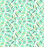 GREEN MODERN FLORAL SEAMLESS VECTOR PATTERN. DROP SHAPE BACKGROUND. TRENDY LEAVES MOTIVE vector illustration