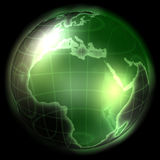 Green Modern Globe Stock Photo
