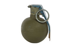 Green modern hand grenade Royalty Free Stock Photography