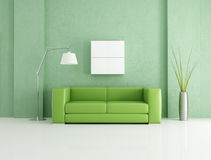 Green modern interior Royalty Free Stock Images