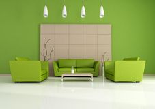 Green modern interior Stock Image