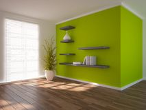 Green modern interior concept Stock Photography