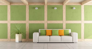 Green modern living room Royalty Free Stock Photography