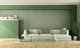 Green modern living room Royalty Free Stock Image