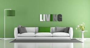 Green modern living room Stock Photography