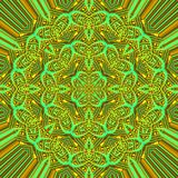 Green modern mandala illustration Royalty Free Stock Image