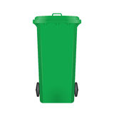 Green modern recycle bin. On white background Stock Image