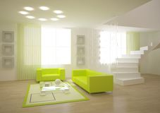 Green modern room Royalty Free Stock Photography