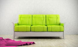 Green modern sofa Stock Photos