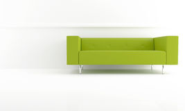 Green modern sofa Stock Images