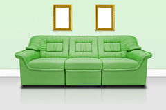 Green modern sofa Royalty Free Stock Photography