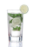 Green mojito cocktail in highball glass with mint and lime Royalty Free Stock Image
