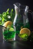 Green mojito cocktail . tarragon Stock Photo