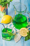 Green mojito cocktail . tarragon Stock Images