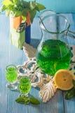 Green mojito cocktail . tarragon Royalty Free Stock Photography