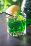 Green mojito cocktail . tarragon Stock Photos