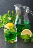 Green mojito cocktail . tarragon Royalty Free Stock Image