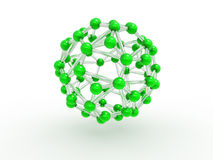 Green molecular concept Royalty Free Stock Image