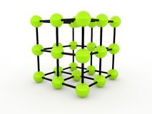 Green molecular concept Stock Photos