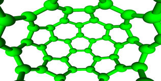 Green molecular lattice on white background Royalty Free Stock Image