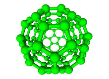 Green molecular sphere on white background Royalty Free Stock Photography
