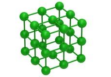 Green molecular structure Stock Photos