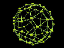 Green molecule. With green atoms over white background (see more in my portfolio Stock Images